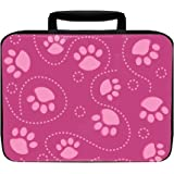 Pink Dog Paw Insulated Lunch Box Bag
