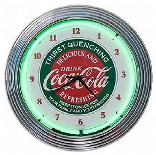 コカコーラ ネオン クロック レトロ 壁掛時計 [並行輸入品] B00AYTIP7C