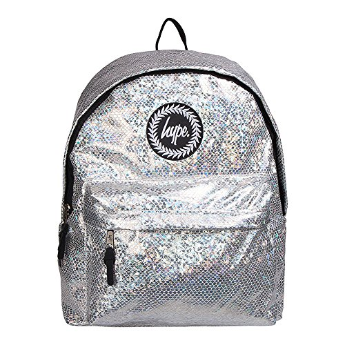 Rucksack Glitter Hype Bag Silver Backpack Snake 6SSp41