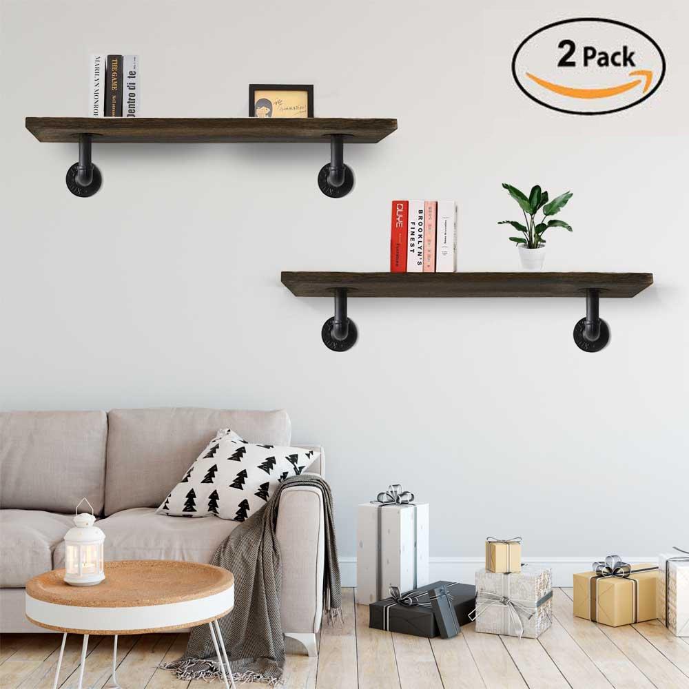 Puncia Wooden Floating Shelves for bed room office room bookcase shelf Medal (39'6'0.8'2P)