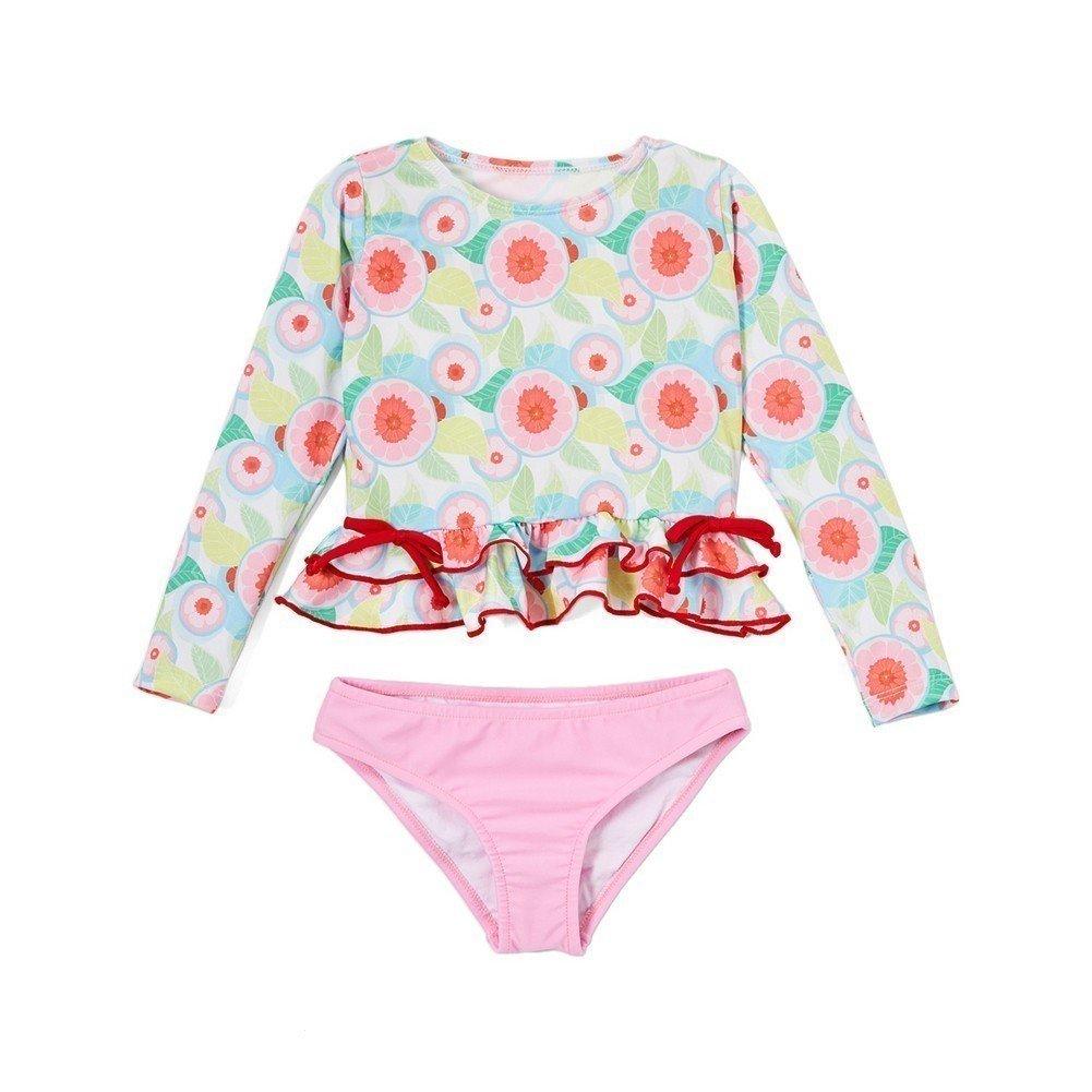 Azul Sweet Jane Ruffle Rashguard Bikini
