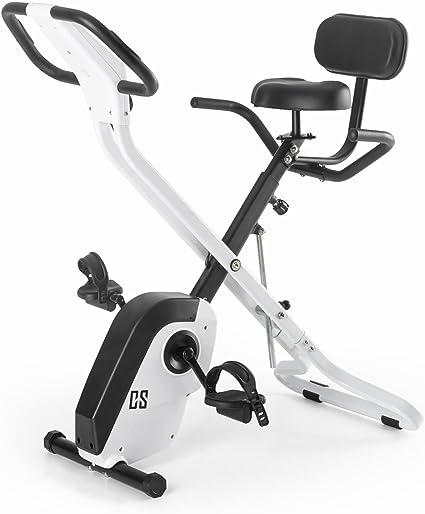 CAPITAL SPORTS Azura X - Bicicleta estática, Entrenamiento de cardio, Pulsómetro, Sistema plegable, Rotor de 4 kg, 7 niveles de altura, Peso máx. 120 kg: Amazon.es: Deportes y aire libre