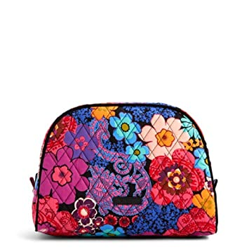 53a8294bbc Amazon.com   Vera Bradley Large Cosmetic Bag in Floral Fiesta   Beauty