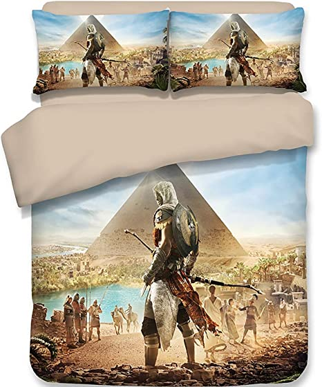 Copripiumino Assassins Creed.Jsbvm Set Copripiumino 3d Assassin S Creed Modello 3 Pezzi Set