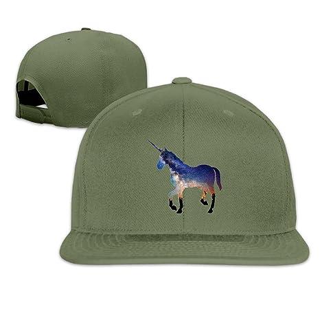 Nubia Unicorn caballo personalizada Running gorro gorra plana Bill ...