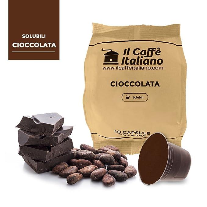 50 Cápsulas de Café compatibles Nespresso sabor de Chocolate, 50 Cápsulas compatibles con máquinas Nespresso