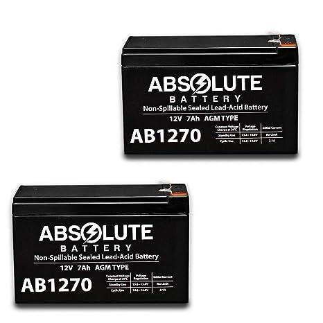 Amazon com: 2 Pack New 12V 7AH SLA Battery for Simplex 4006