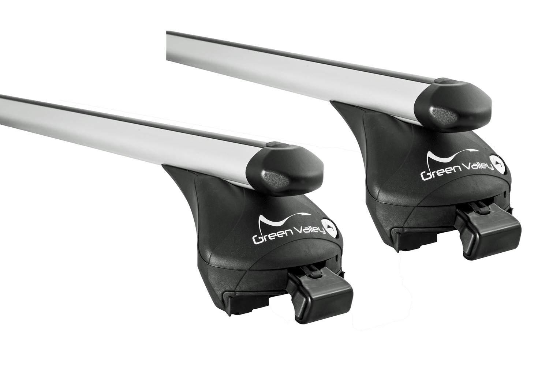 VDP Dachtr/äger Original Skitr/äger//Snowboardtr/äger//Skihalter Alu 4 Paar Ski ausziehbar kompatibel mit Opel Corsa D 3-5 T/ürer 2006-2015