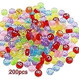 200X Abalorio Plástico DIY Joyas Letras 7 mm Bricolaje
