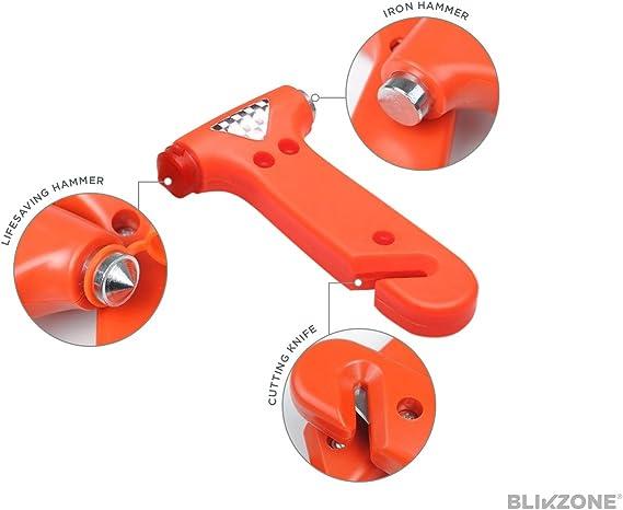 Blikzone 81 Piezas- Kit de Emergencia para Coches Camiones y RV, con Kit de Reparación de Llantas, Cables de Arranque, Mini Compresor de Aire Portátil ...