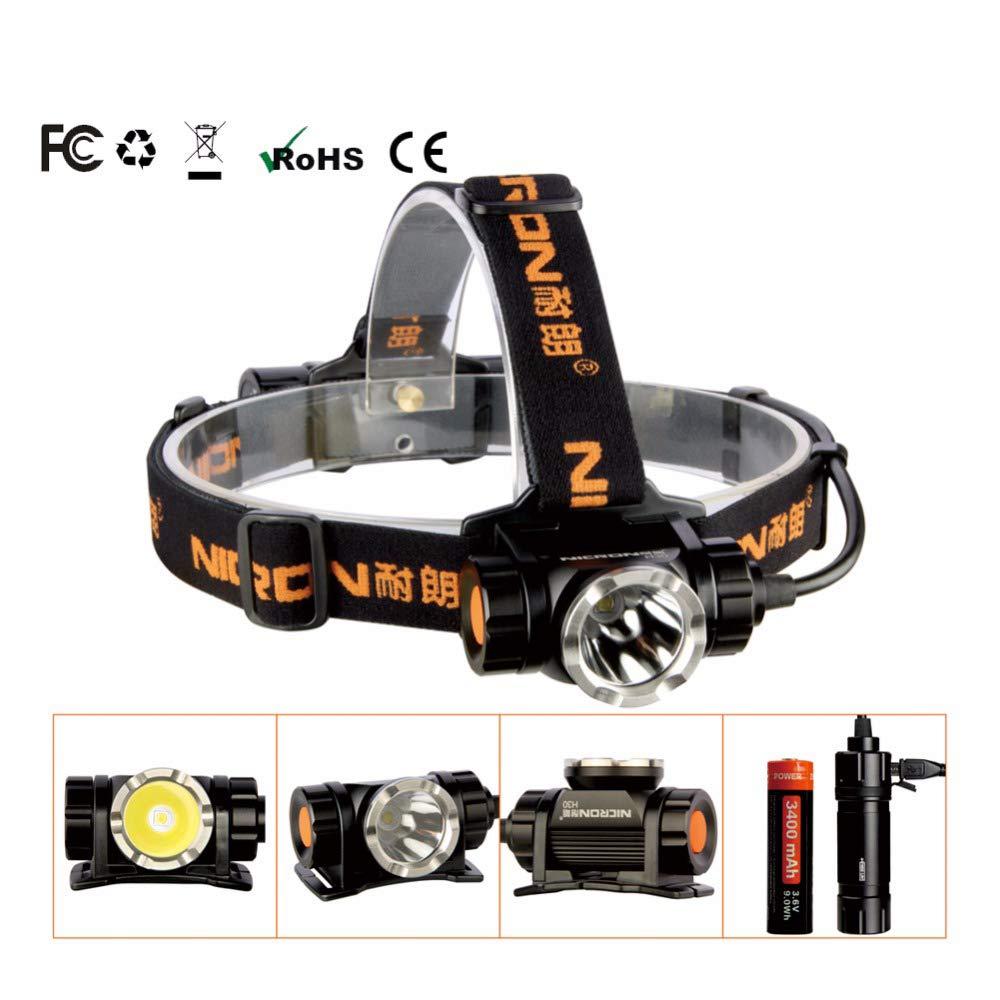Long Range Wiederaufladbare Super LED Helligkeit Scheinwerfer 900Lm 200M Wasserdichte Taschenlampe Scheinwerfer Taschenlampe Outdoor-Einsatz H30