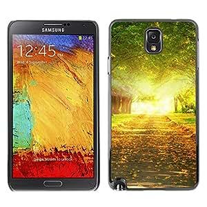 LECELL -- Funda protectora / Cubierta / Piel For Samsung Galaxy Note 3 N9000 N9002 N9005 -- Nature Tree Alleay --