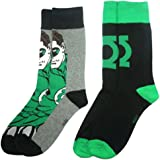 "DC 80A244 ""Green Lantern"" Mens Socks (Size 6-11, Pack of 2)"