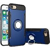 Coque iPhone 6/6s avec Anneau de Support/Bague, Bestsky Silicone Plastique Double Couche Anti