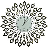 """LuLu Decor, 25"""" Vintage Metal Wall Clock, 9"""" White Glass Dial with Arabic Numerals, Decorative Clock for Living Room, Bedroom, Office Space Review"""