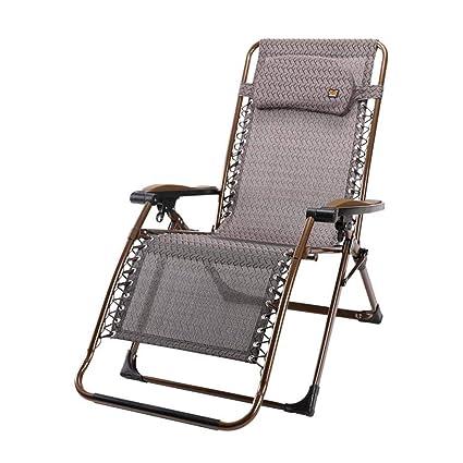 Textilene Silla reclinable Plegable Zero Gravity Tumbonas Garden Beach Portable con reposacabezas con portavasos