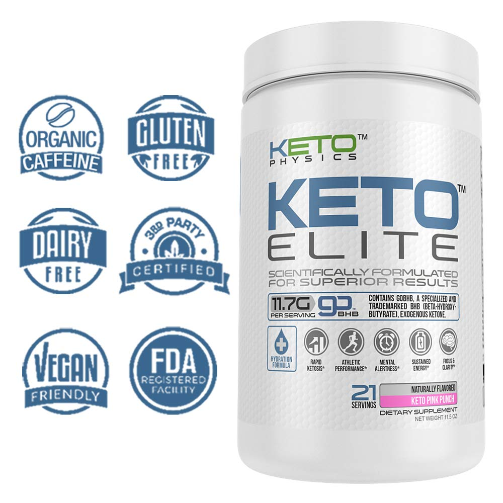 Exogenous Ketones Supplement | Large 21 Servings | Keto Elite | Rapid  Ketosis | with Electrolyte Blend