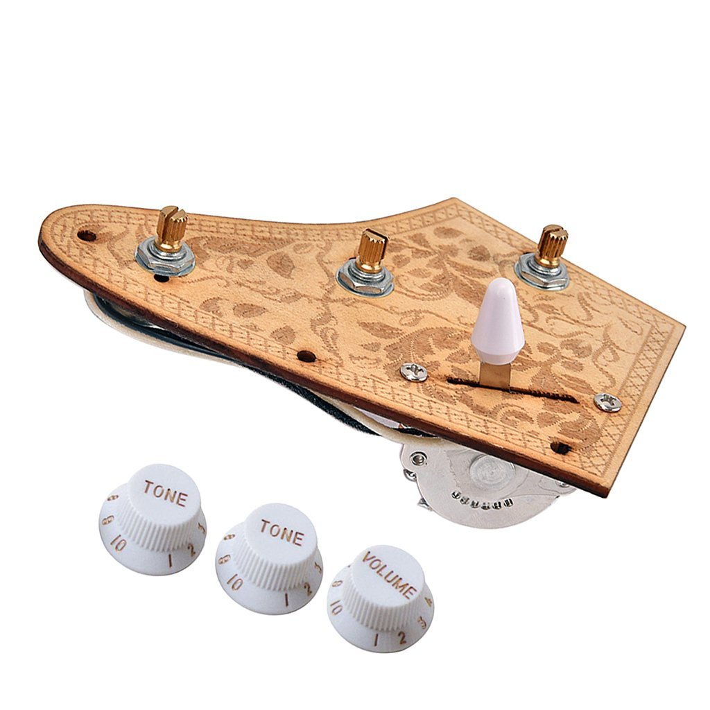 Homyl 1 Set Electric Guitar Wiring Harness Pickup With Tone Volume For Control Stratocaster Parts