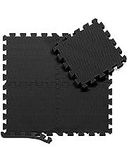 Schutzmatten Set Puzzle Bodenschutz Matten - 18 Puzzlematten Bodenschutzmatten Unterlegmatten   Fitnessmatten Boden Schutz vor Dellen Kälte Flüssigkeit   Sport Fitnessraum Keller Garage Fitness Pool