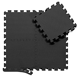 Interlocking Soft Foam Floor Mats – 18 Pieces EVA Puzzle Rubber Tiles Protective Flooring Set – Floor Protector, Surface Protection | Underlay Mat for Sports Exercise – Gym Fitness Basement Garage