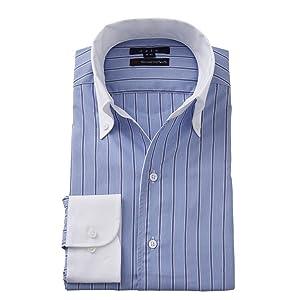 [オジエ] ozie【メンズ・ワイシャツ・カッターシャツ】スリム・長袖・イタリアンカラー・スキッパー・クレリック・ポケット無し