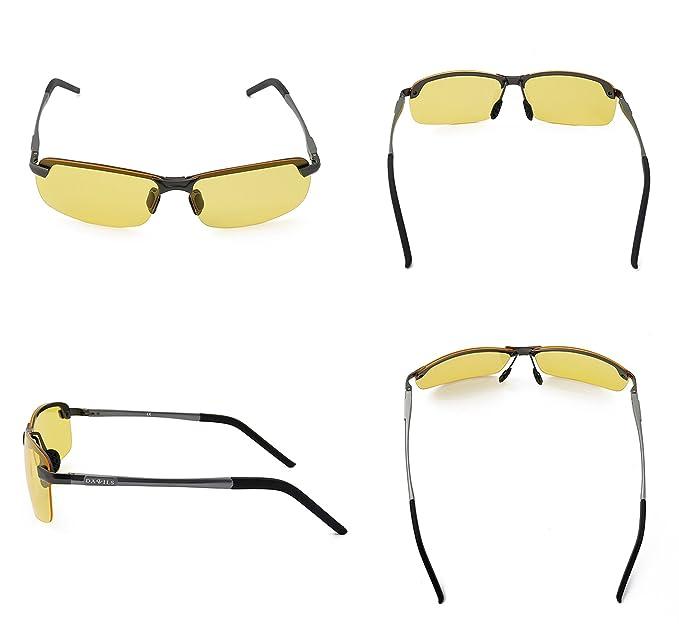 DAWILS Gafas de Sol Deportivas Polarizadas Lente Amarilla Visión Nocturna Para Para Hombre y Mujer: Amazon.es: Ropa y accesorios