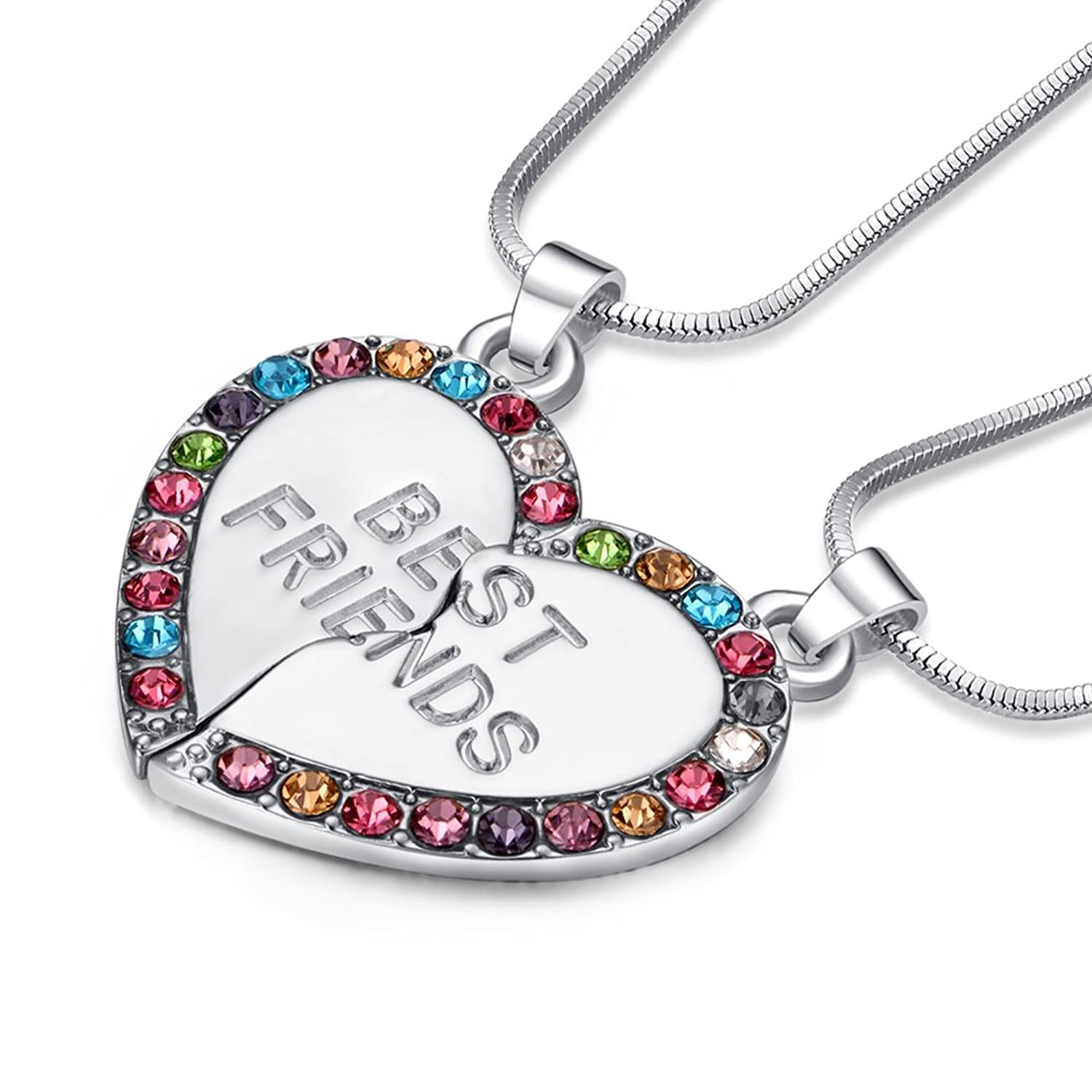 heart best us with roses lockets friends s silver friendship claire