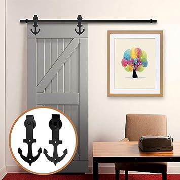 LWZH 10.5FT/320 cm Herraje para Puerta Corredera Kit de Accesorios para Puertas Correderas: Amazon.es: Bricolaje y herramientas