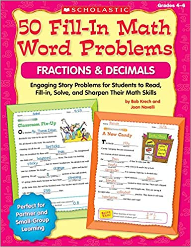 Amazon.com: 50 Fill-in Math Word Problems: Fractions & Decimals ...