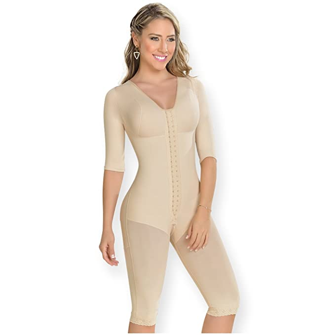 M&D 0161 Compression Garments After Liposuction | Fajas Colombianas Plus Size Beige