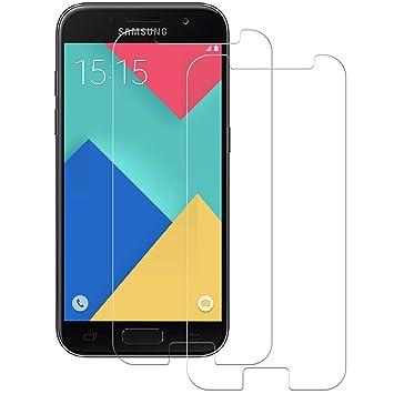 POOPHUNS Cristal Templado Samsung Galaxy A5 2017, 2-Unidades ...