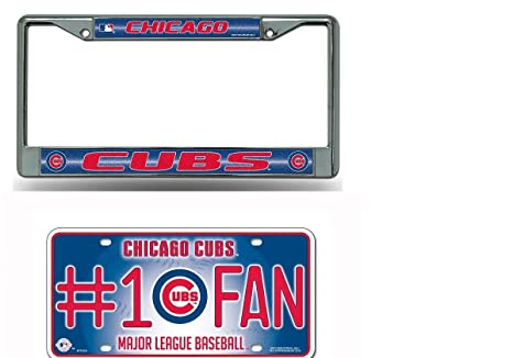 Amazon.com: Rico Industries Chicago Cubs MLB Glitter Bling Chrome ...