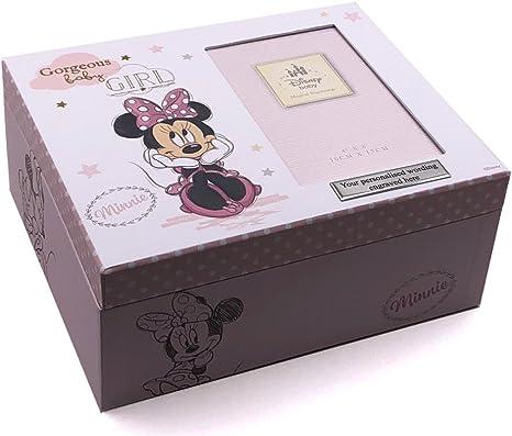 Disney Minnie Mouse caja de recuerdos regalo de recuerdo de bebé ...