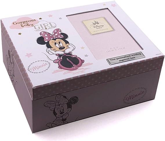 Disney Minnie Mouse caja de recuerdos regalo de recuerdo de bebé Talla:Personalised: Amazon.es: Bebé