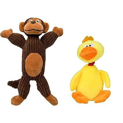 Amazoncom Duck Monkey Dog Toys Dog Stuffed Animals Chew Toy Puppy