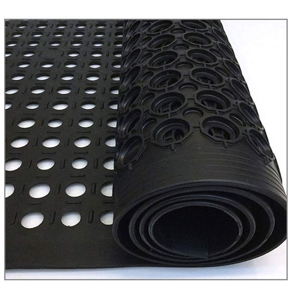 Drainage Mat Rubber Door Mat Size 60 x 36 x 0.4 Durable Restaurant Kitchen Non-Slip Bar Drainage Utility Floor Mat 100/% Solid Rubber