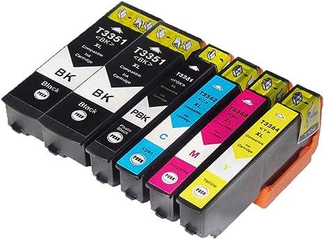 33 x l 33 XL Cartucho de Tinta Compatible para Epson XP-530 xp-540 ...