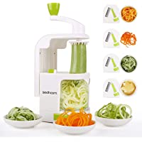 Spiralizer 4-Blade Vegetable Spiralizer Sedhoom Heavy Duty Spiral Slicer Zucchini Noodle & Veggie Pasta & Spaghetti Maker for Low Carb/Paleo/Gluten-Free Meals/Salad