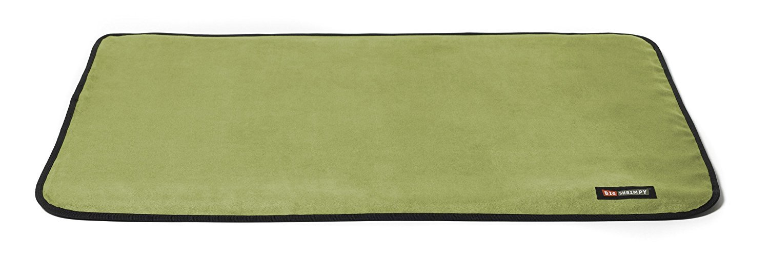 Big Shrimpy Landing Pad Crate Mat in Faux Suede, Extra-Extra-Large, Leaf