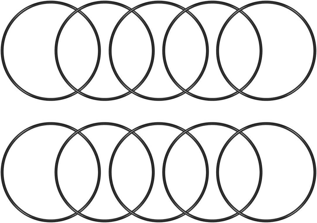 75mm OD Round Seal Gasket Pack of 10 2.4mm Width uxcell O-Rings Nitrile Rubber 70.2mm Inner Diameter