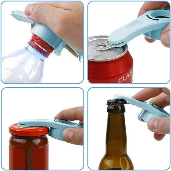 Bottle Rosa. Apri-Barattoli A Mano Facile Tappo A Vite Effilife Apri-Bottiglie Plastica Can Opener