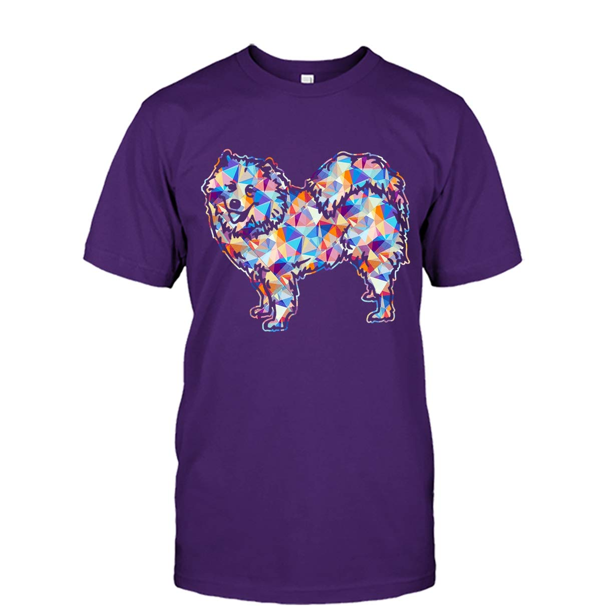 Samoyed Cool Tshirt Samoyed Geometric Colorful Tee Shirt Design for Men and Women