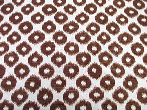 Robert Allen Fabric Upholstery Drapery Ikat Geo Tobacco Brown EE12 - Robert Allen Drapery Fabric