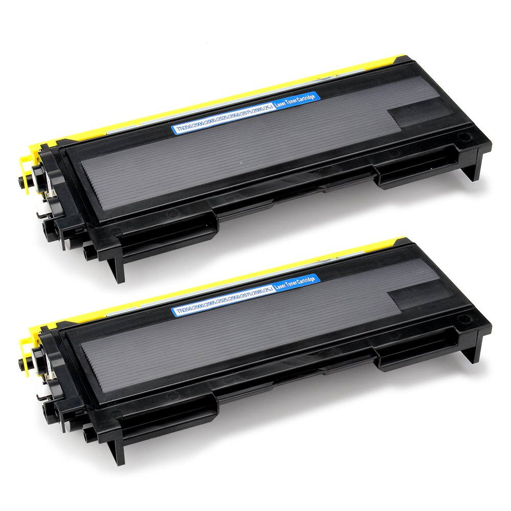 Office World Compatible Toner Cartridge Replacement for Brother TN350 TN-350 (Black, 2-Packs), Compatible with Brother Intellifax 2820 Intellifax 2920 HL-2070N HL-2040 DCP-7020 MFC-7820n