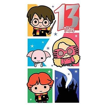 Tarjeta de cumpleaños 13 de Harry Potter: Amazon.es: Oficina ...