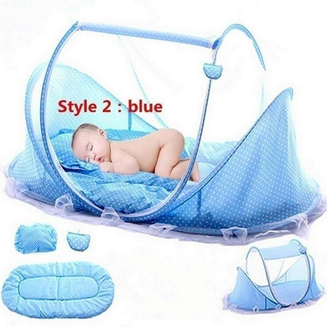 Lioder Portable Folding Solid Zipper Closure Home Baby Mosquito Net Set Crib Netting