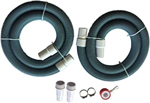 "FibroPool Professional 1 1/2"" Swimming Pool Filter Hose Replacement Kit (6 Feet, 2 Pack)"