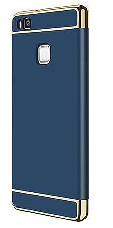 Teryei Funda Huawei P9 Lite 3 in 1 alta calidad ultra fina Protector completo PC carcasa Shell Negro Cáscara Dura Case para Huawei P9 Lite