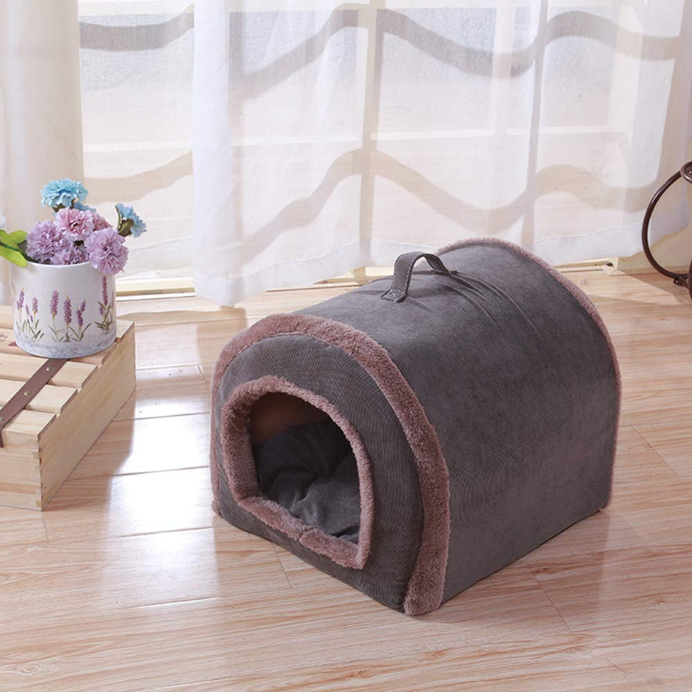 Glumes Cat Puppy Bed Pets House Sleeping Bag Soft Fleece Cat Sleeping Cave Bed Cave for Cat Puppy Rabbit Small Dogs Animals