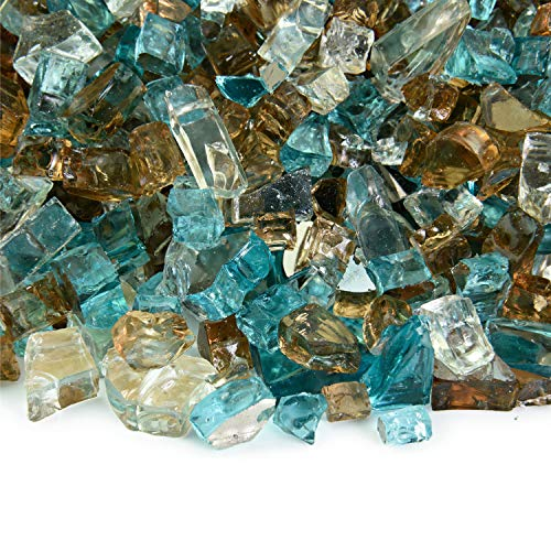 Barksdale - Fire Glass Blend for Indoor and Outdoor Fire Pits or Fireplaces | 10 Pounds | 1/4 - Fireplace Fire Glass